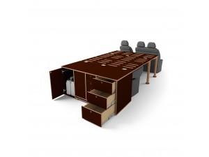 Модуль для кемпинга Campwheel 1.0 для VW T4, T5, T6, T6.1, Caravelle (коричневый)