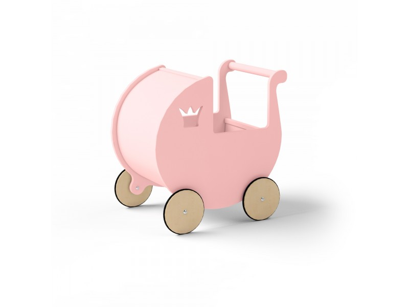 Детская коляска для кукол розовая