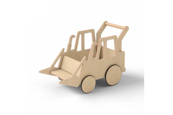 Детский трактор Harvy натуральное дерево