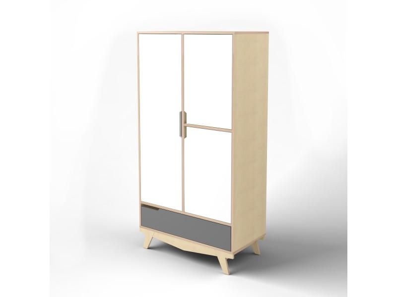 Шкаф Scandic белый/серый