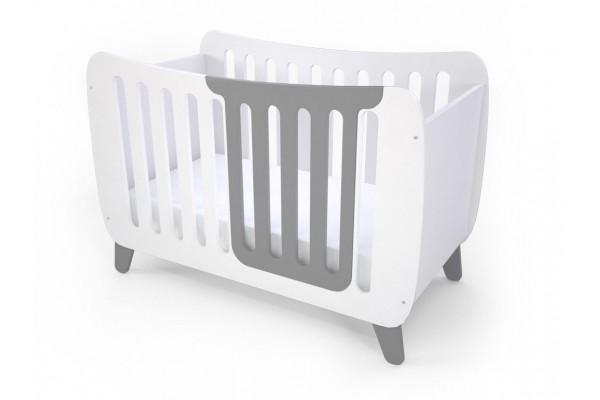 Кроватка Fashion Kit белая/серый