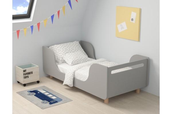 Кровать Wave серая