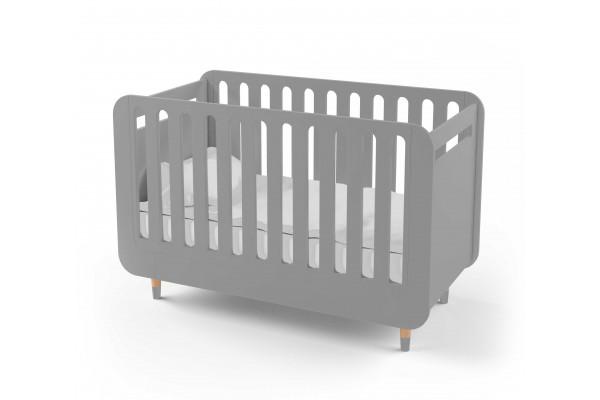 Кроватка-трансформер для новорожденного Bubble Kit серая