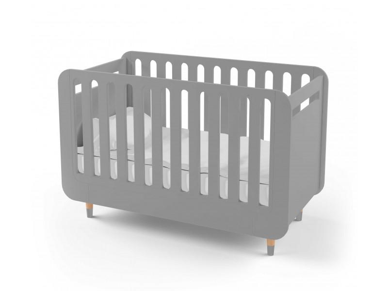 Кроватка для новорожденного Bubble Kit серая