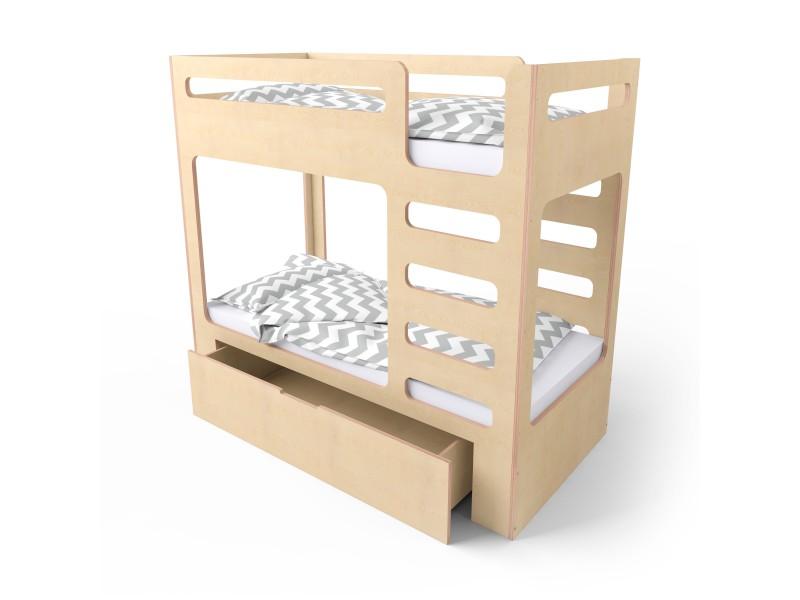 Кровать двухъярусная cuBED с ящиком