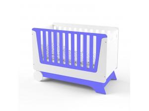 Кроватка-трансформер для новорожденного Nova Kit белая/индиго