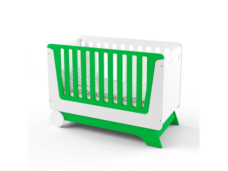 Кроватка-трансформер Nova Kit белая/зеленый