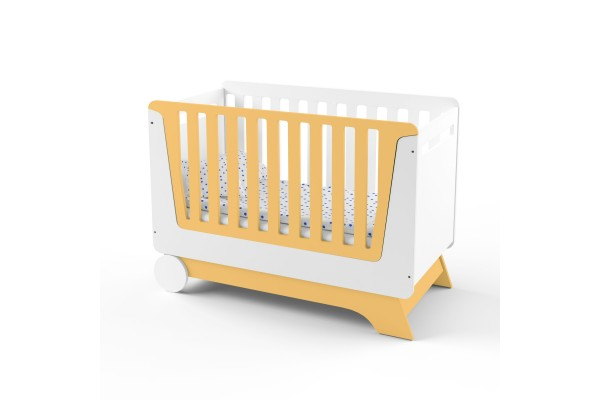 Кроватка-трансформер для новорожденного Nova Kit белая/оранжевый