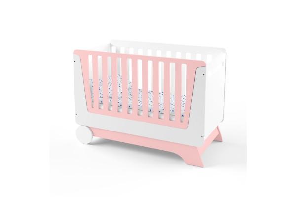 Кроватка-трансформер для новорожденного Nova Kit белая/розовый