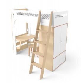 Кровать-чердак Smart Cube белая