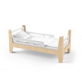 Кровать Tower Uno белая/натуральное дерево