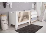 Кроватка-трансформер для новорожденного Scandic белая/натуральное дерево