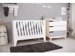 Кроватка-трансформер для новорожденного Scandic белая