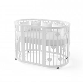 Кроватка-трансформер для новорожденного Sweet Heart белая