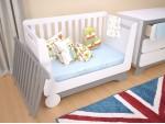 Кроватка-трансформер для новорожденного Nova Kit белая/серый