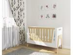 Кроватка-трансформер для новорожденного Shuttle белая/натуральное дерево