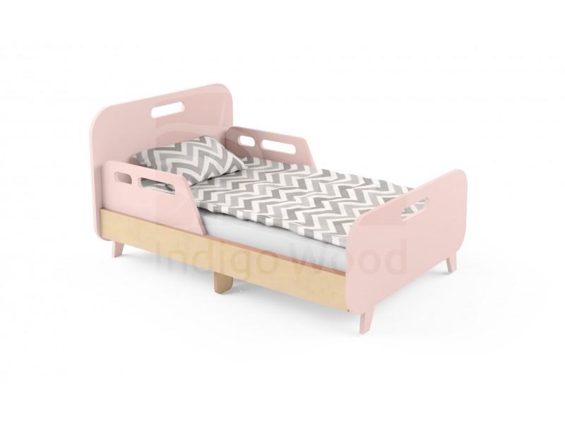 Детская раздвижная кровать Slide Hippo розовая