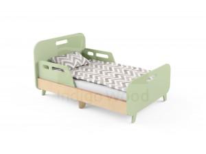 Детская раздвижная кровать Slide Hippo зеленая