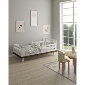 Кровать Cloud белый/натуральное дерево