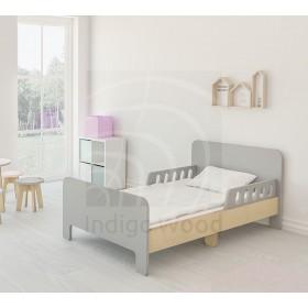 Детская раздвижная кровать Slide серый