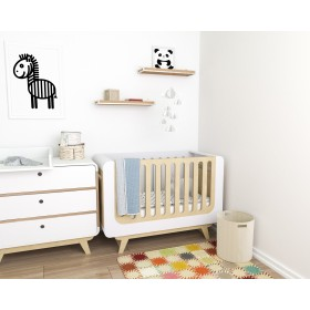 Детская комната Bubble белый/натуральное дерево