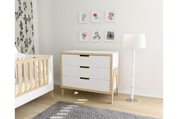 Детская комната Shuttle белый/натуральное дерево