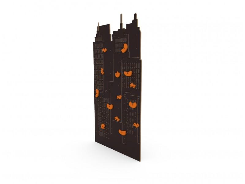 Детский скалодром New York коричневый (уличный)