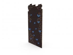 Детский скалодром The Wall коричневый (уличный)