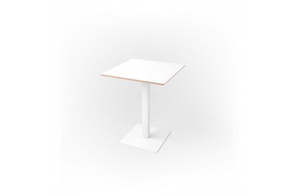 Стол квадратный 60 х 60 х 1,8 см, высота 72 см, арт.1069-white