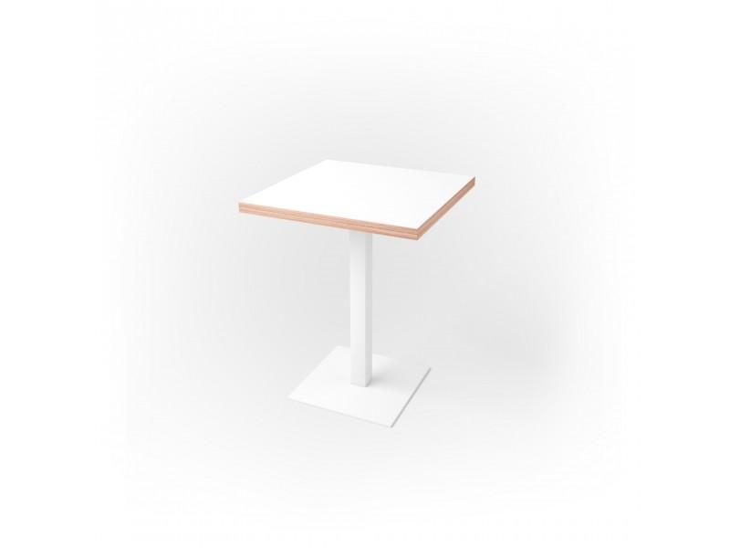 Стол квадратный 60 х 60 х 3,6 см, высота 72 см, арт.1069-white