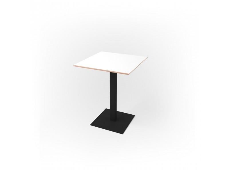 Стол квадратный 60 х 60 х 1,8 см, высота 72 см, арт.1069-black