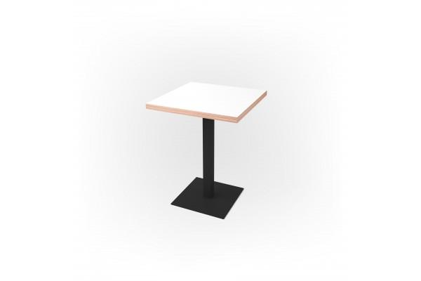 Стол квадратный 60 х 60 х 3,6 см, высота 72 см, арт.1069-black