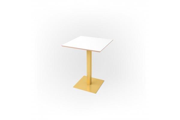 Стол квадратный 60 х 60 х 1,8 см, высота 72 см, арт.1069-gold