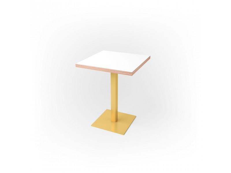 Стол квадратный 60 х 60 х 3,6 см, высота 72 см, арт.1069-gold