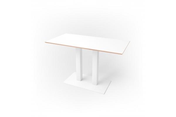 Стол прямоугольный 120 х 60 х 1,8 см, высота 72 см, арт.1070-white