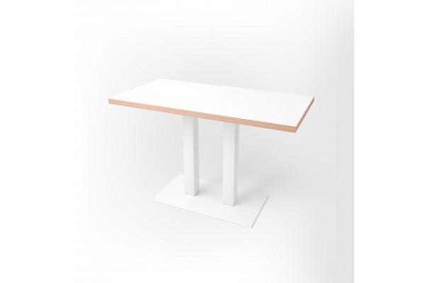 Стол прямоугольный 120 х 60 х 3,6 см, высота 72 см, арт.1070-white
