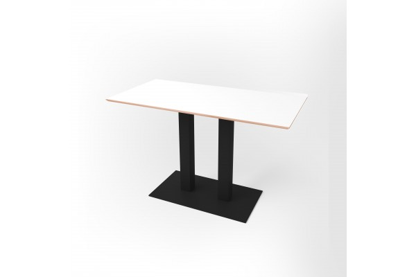 Стол прямоугольный 120 х 60 х 1,8 см, высота 72 см, арт.1070-black