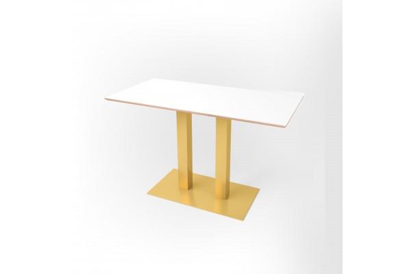 Стол прямоугольный 120 х 60 х 1,8 см, высота 72 см, арт.1070-gold