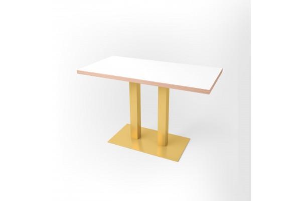 Стол прямоугольный 120 х 60 х 3,6 см, высота 72 см, арт.1070-gold