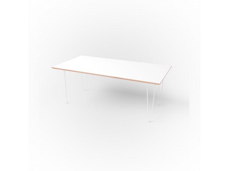 Стол прямоугольный 120 х 60 х 1,8 см, высота 72 см, арт.1135-white
