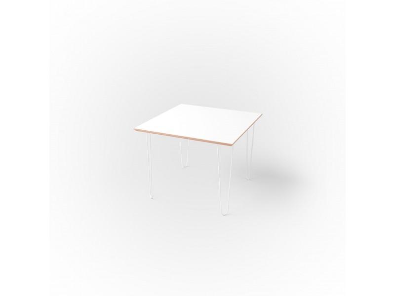 Стол квадратный 60 х 60 х 1,8 см, высота 72 см, арт.1135-white