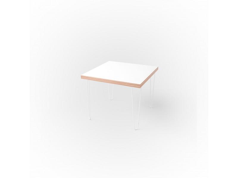 Стол квадратный 60 х 60 х 3,6 см, высота 72 см, арт.1135-white
