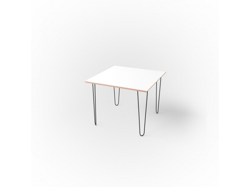 Стол квадратный 60 х 60 х 1,8 см, высота 72 см, арт.1135-black