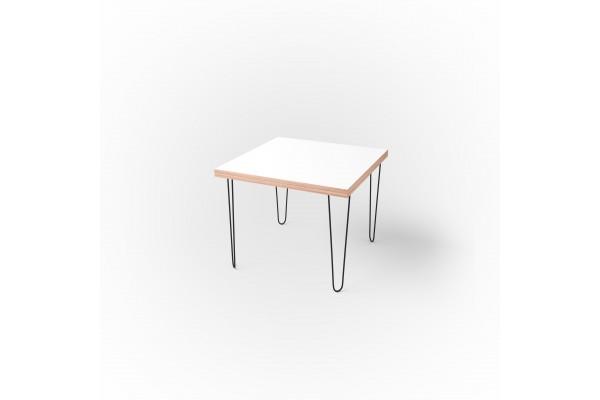 Стол квадратный 60 х 60 х 3,6 см, высота 72 см, арт.1135-black