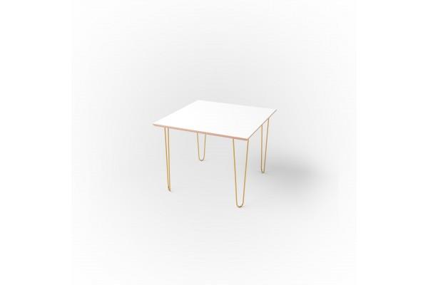 Стол квадратный 60 х 60 х 1,8 см, высота 72 см, арт.1135-gold