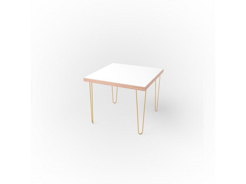 Стол квадратный 60 х 60 х 3,6 см, высота 72 см, арт.1135-gold