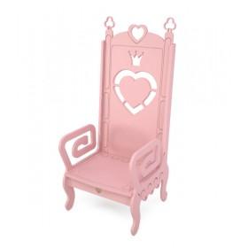 Стул детский Трон розовый