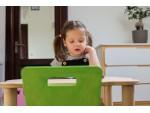 Стул детский регулируемый Simple green