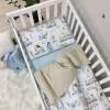 Сменный комплект в детскую кроватку Паравозики