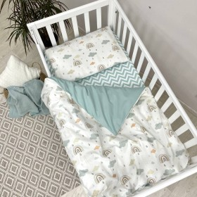 Сменный комплект в детскую кроватку Радуги